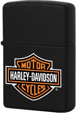 218HD.H252 Зажигалка Zippo Harley-Davidson logo, Black Matte