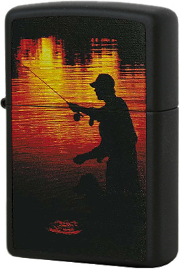 218 Fisherman Зажигалка Zippo, Black Matte