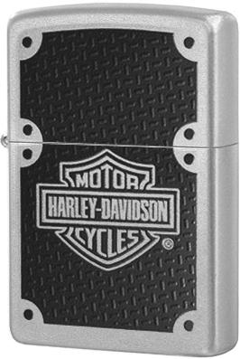 24025 Зажигалка Zippo Harley-Davidson Carbon Fiber, Satin Chrome
