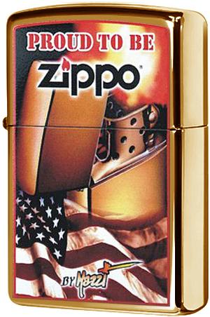 24746 Зажигалка Zippo Mazzi Proud To Be Zippo, Harvest Bronze