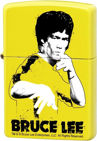 24839 Зажигалка Zippo Bruce Lee Yellow Suit Splatter
