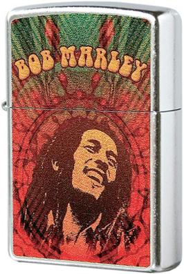 24991 Зажигалка Zippo Bob Marley, Street Chrome