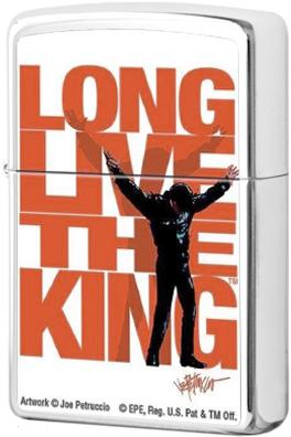 250 Зажигалка Zippo Elvis Long Live the King, Polish Chrome — zippo.su