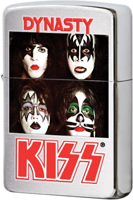 28019 Зажигалка Zippo Kiss Dynasty, Brushed Chrome