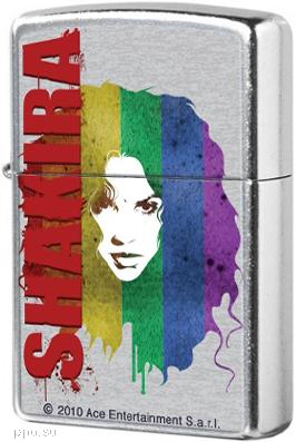 28028 Зажигалка Zippo Shakira Rainbow, Street Chrome