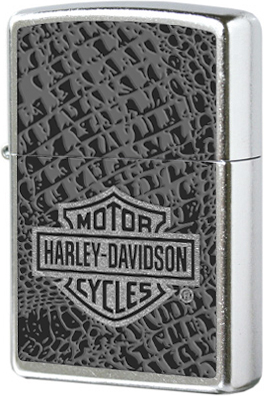 28084 Зажигалка Zippo Harley Davidson Logo, Street Chrome