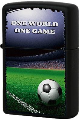 28301 Зажигалка Zippo Football in Stadium, Black Matte