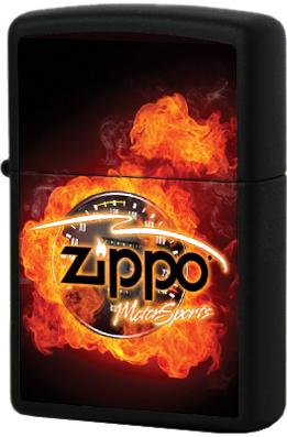 28335 Зажигалка Zippo Motor Sports, Black Matte