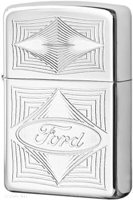 28625 Зажигалка Zippo Ford Diamonds, Polish Chrome