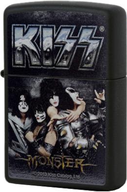 28628 Зажигалка Zippo Kiss Monster, Black Matte