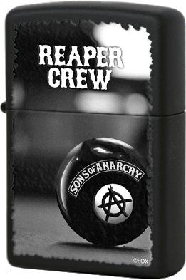 28677 Зажигалка Zippo Reaper Crew, Black Matte