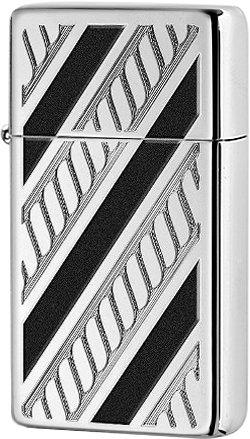 28810 Зажигалка Zippo Armor Slim Rope Design, Polish Chrome