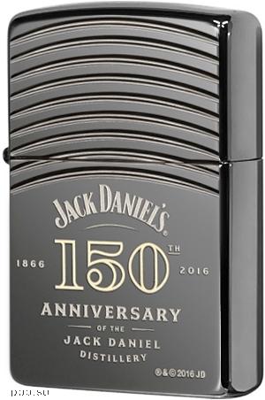 29189 Зажигалка Zippo Armor Jack Daniel's 150th Anniversary, Black Ice