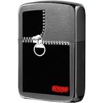 28326 Зажигалка Zippo Zipped Replica, Black Ice