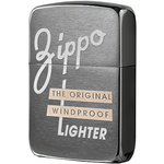 28534 Зажигалка Zippo Original Windproof 1941 Replica, Black Ice