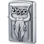 20286 Зажигалка Zippo Bull Skull Emblem, Street Chrome