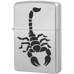 205 Scorpion Зажигалка Zippo, Satin Chrome