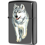 769 Зажигалка Zippo Wolf Black Ice