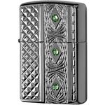 29255 Зажигалка Zippo Elegant Diamonda Crystal, Armor Black Ice