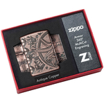 49000 Зажигалка Zippo Nautical Scene Design, Armor Antique Copper