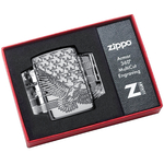 49027 Зажигалка Zippo Patriotic Design, Armor Polish Chrome