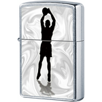 207 Зажигалка Zippo Basketball Shadow, Street Chrome — zippo.su