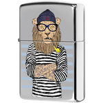 250 Зажигалка Zippo Lion Sailor, Polish Chrome — zippo.su