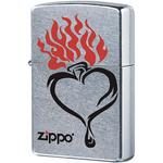 28576 Зажигалка Zippo Tribal Heart, Street Chrome — zippo.su