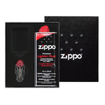 50R Zippo Gift Set, подарочная коробка, топливо 125мл, кремни