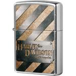 207 Metall Striped Зажигалка Zippo Harley-Davidson, Street Chrome