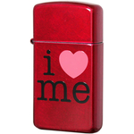 24352 Зажигалка Zippo Slim I Love Me, Candy Apple Red