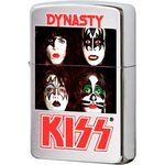 28019 Зажигалка Zippo Kiss Dynasty, Brushed Chrome