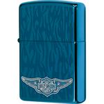 28687 Зажигалка Zippo Harley Davidson, Sapphire Wings