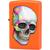 29402 Зажигалка Zippo Skull, Neon Orange