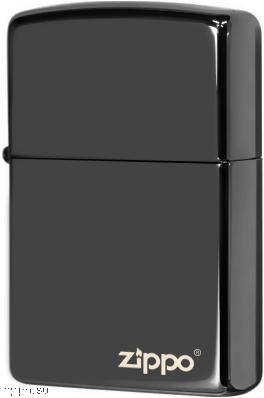 24756ZL Зажигалка Zippo logo, Ebony