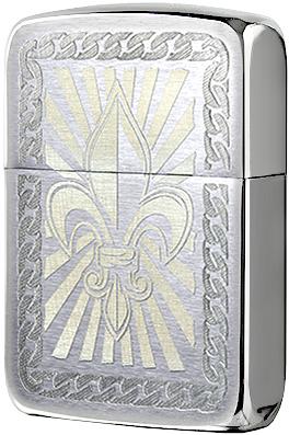 28325 Зажигалка Zippo Fleur De Lis 1941 Replica, Brushed Chrome