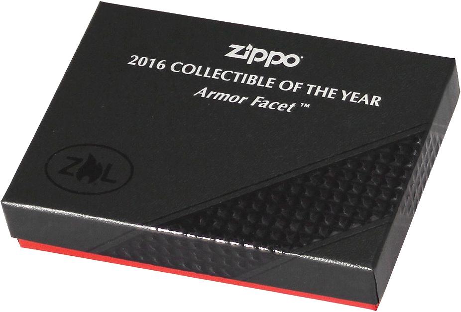 29151 Зажигалка Zippo Lighter 2016 Collectible of The Year, Armor Facet Satin Chrome