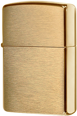 204B Зажигалка Zippo Brushed Brass w/o Solid Engraved