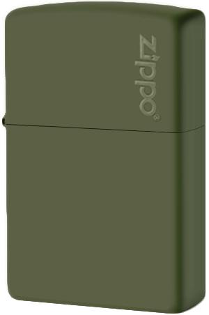 221ZL Зажигалка Zippo Logo, Green Matte
