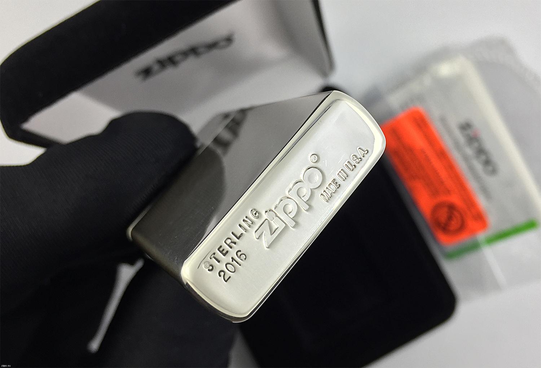 1500 Slim Sterling Зажигалка Slim Zippo, High Polish штамп на донышке