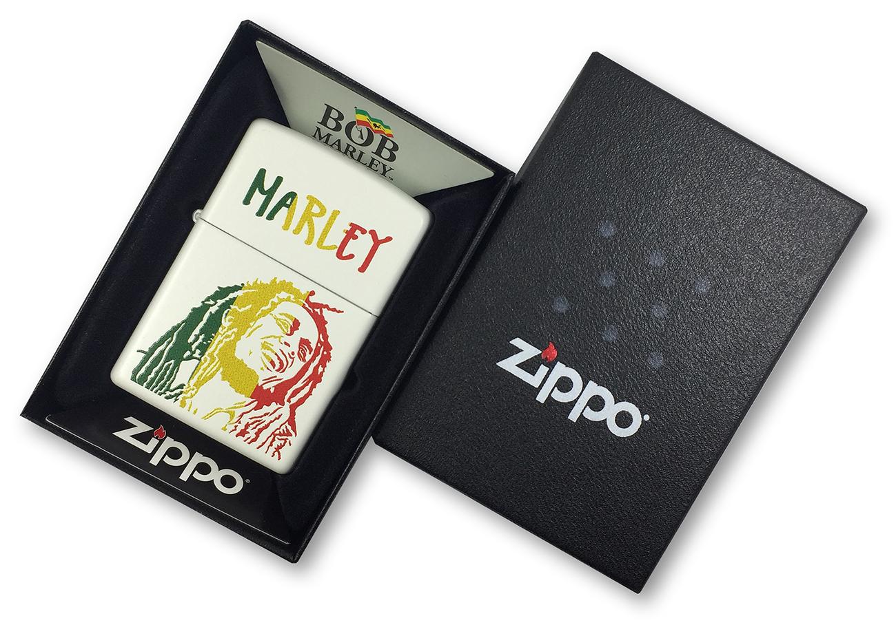 29308 Зажигалка Zippo Bob Marley, White Matte в фирменной подарочной упаковке