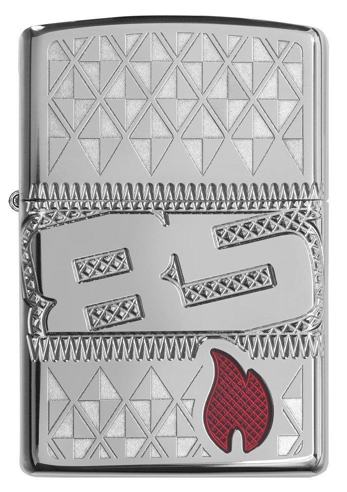 29442 Зажигалка Zippo 85th Anniversary Collectible, Armor Polish Chrome лицевая сторона
