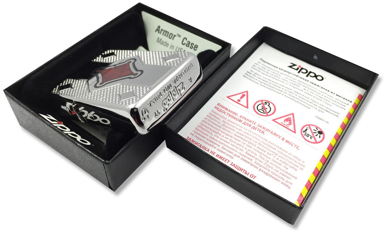 29516 Зажигалка Zippo Geo Design Deep Carved штамп на донышке