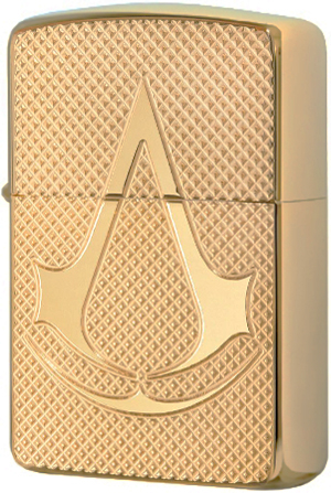 29519 Зажигалка Zippo Deep Carved Assassin's Creed, Polish Brass