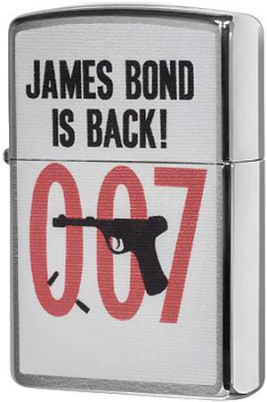 29563 Зажигалка Zippo James Bond 007, Brushed Chrome