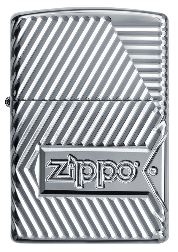 29672 Зажигалка Zippo Armor Bolts Design, Polish Chrome