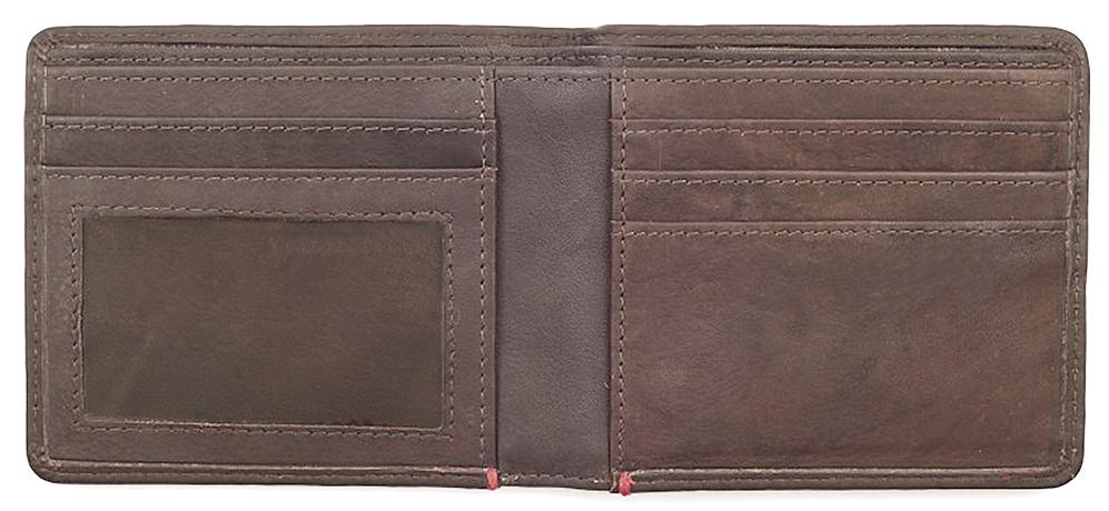 2005117 Портмоне Zippo Brown Genuine Leather - раскрывается книжкой