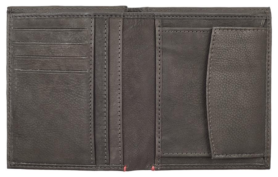 2005121 Портмоне Zippo Vertical Wallet Bi-fold Leather Mocha - раскрывается книжкой