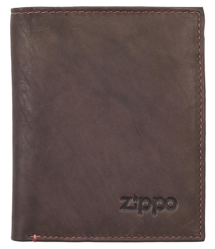 2005122 Портмоне Zippo Vertical Wallet Bi-fold Leather