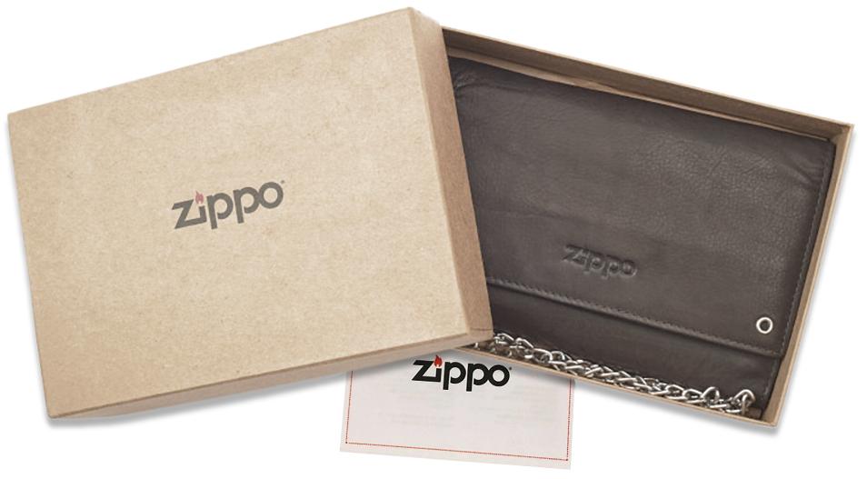 2005129 Бумажник байкера Zippo Bikers Wallet, Leather Mocha - в подарочной коробке